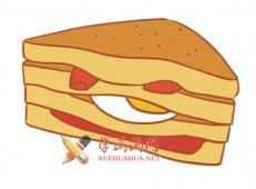 三明治的简笔画画法大全【彩色】