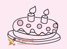 生日蛋糕的简笔画画法素材大全