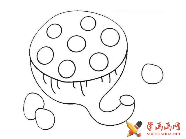 儿童学画画《莲蓬简笔画图片》(1)