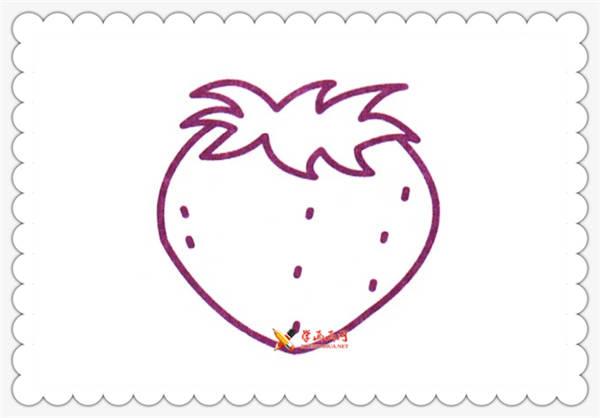 6幅草莓简笔画图片(2)