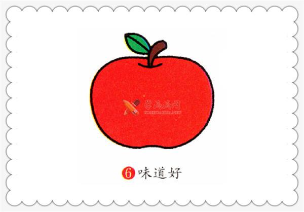 简笔画红苹果的画法