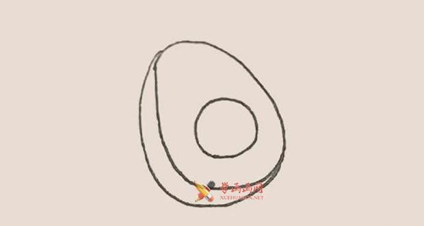 营养丰富的牛油果的简笔画教程【彩色】(3)
