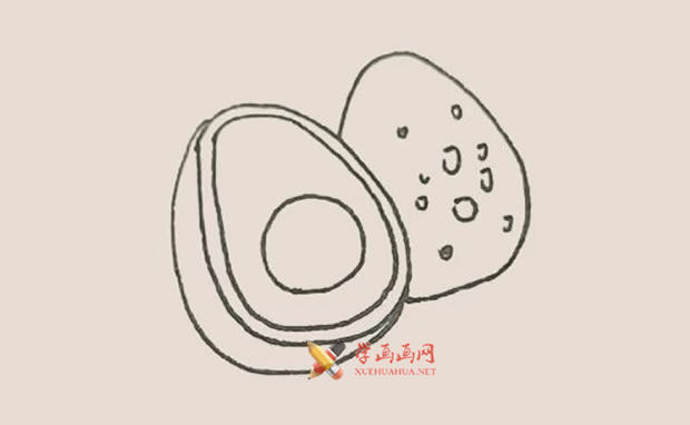 营养丰富的牛油果的简笔画教程【彩色】(5)
