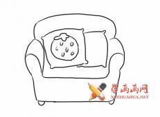 单人沙发的简笔画画法图片