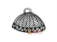 冬季衣服帽子的简笔画素材大全