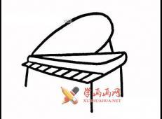 六款钢琴的简笔画画法图片