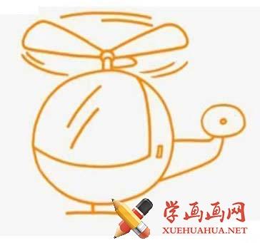 直升机简笔画图片(1)