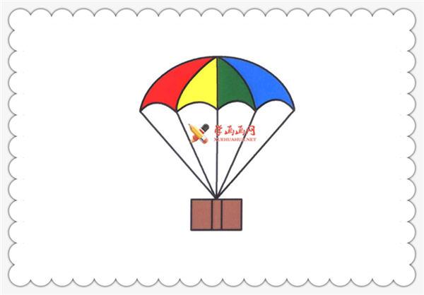 儿童学画画:简笔画降落伞的画法