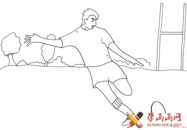 橄榄球的简笔画图片(3)