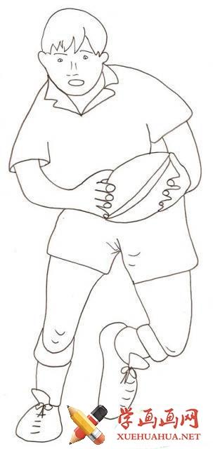 橄榄球的简笔画图片(2)