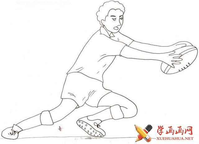 橄榄球的简笔画图片(5)