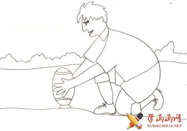 橄榄球的简笔画图片(7)