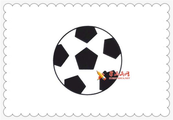 足球的简笔画画法步骤教程