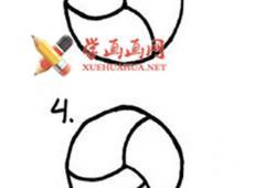 简笔画排球的画法