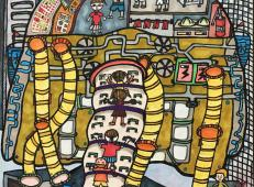三等奖儿童科幻画作品《超能空中救援仪——火中勇士赏析