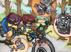 一等奖科幻画《我的智能自行车》