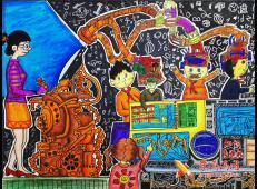 儿童科幻画《知识传达机》赏析