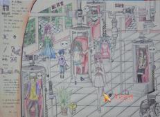初中二年级科幻画《自动测病仪》