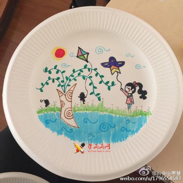 画在盘子里的春天(1)