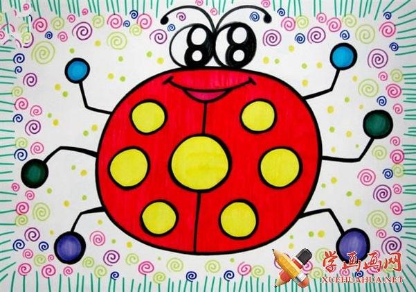 儿童画作品《七星瓢虫》(1)