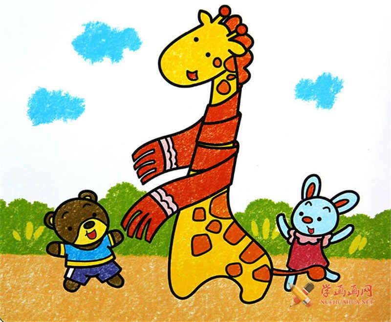 儿童画长颈鹿(1)