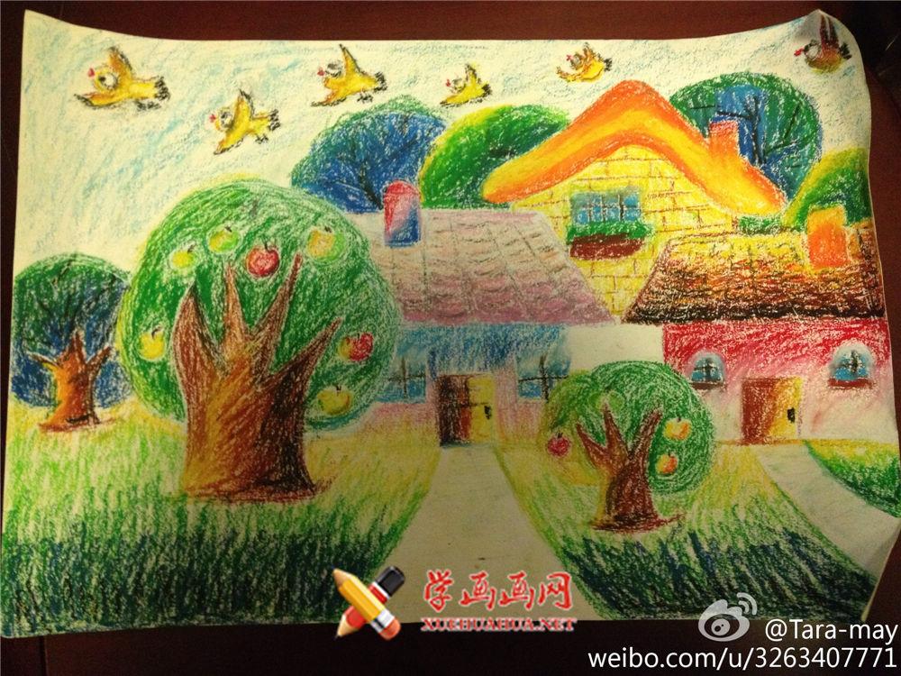 儿童画:我眼中的春天(1)