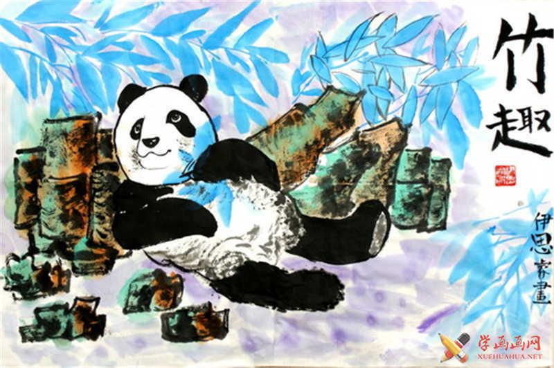 大熊猫中国画(1)