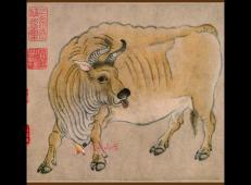 《五牛图》高清图片_中国最早的纸上画作《五牛图》赏析
