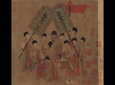 《步辇图》高清图片赏析_中国十大传世名画之一