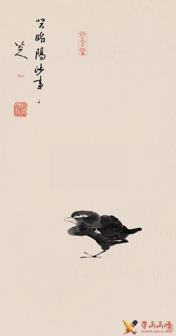 八大山人《孤禽图》(1)