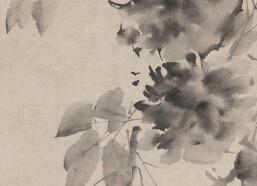 《水墨牡丹图》赏析_徐渭代表作欣赏