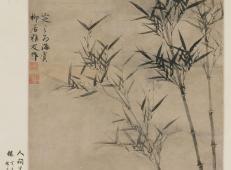 元代画家墨竹欣赏《竹石图》