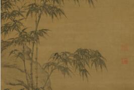 国画欣赏:元代《李衎沐雨图轴》赏析