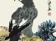 儿童学国画教程《老鹰的画法》