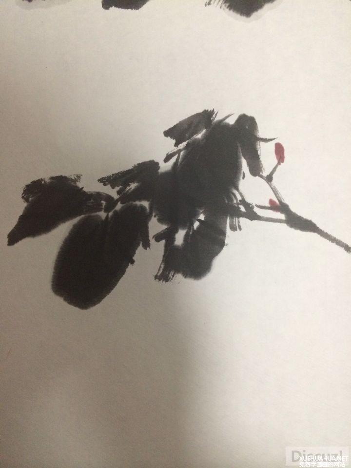 国画教程:牡丹叶子画法步骤8