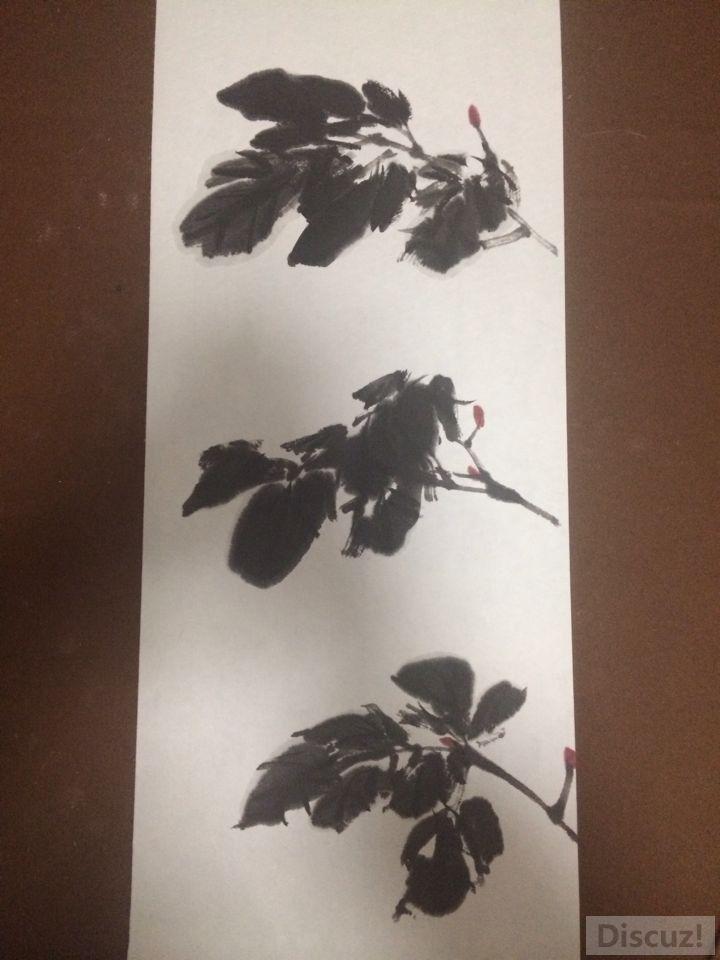 国画教程:牡丹叶子画法完成