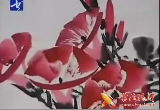 跟徐湛学国画系列视频教程08《牵牛花的画法》上集图片
