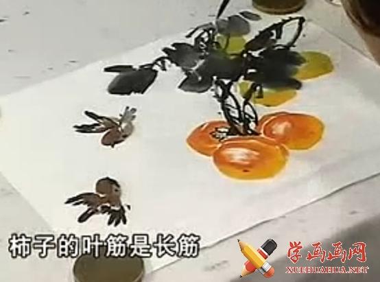 徐湛国画入门系列视频教程13《柿子的画法》(1)