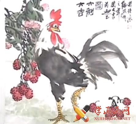 跟徐湛学国画全集20《大公鸡的画法》上集(1)