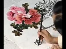 国画牡丹的画法下集_跟徐湛学国画25