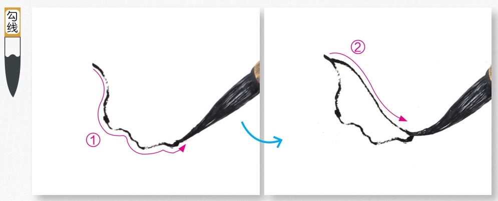 国画牡丹花头的画法步骤教程(勾染法)(1)
