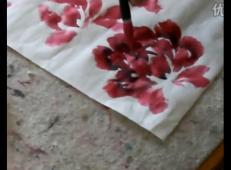 视频教程:国画牡丹的基本技法