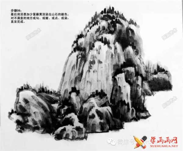 国画山石的画法(6)