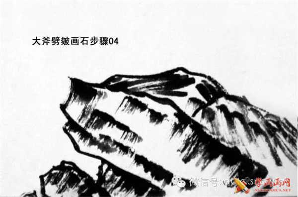 国画山石的画法(10)