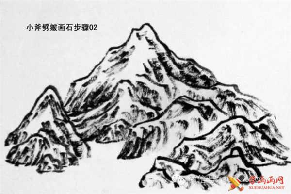 国画山石的画法(13)