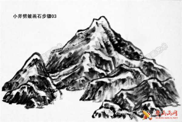 国画山石的画法(14)