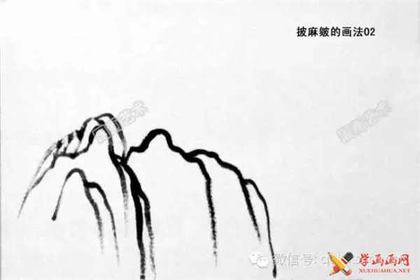 国画山石的画法(16)