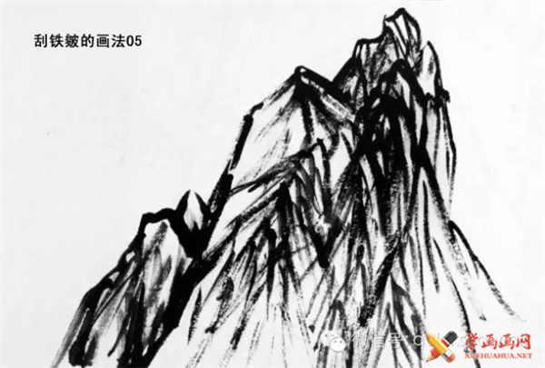 国画山石的画法(24)