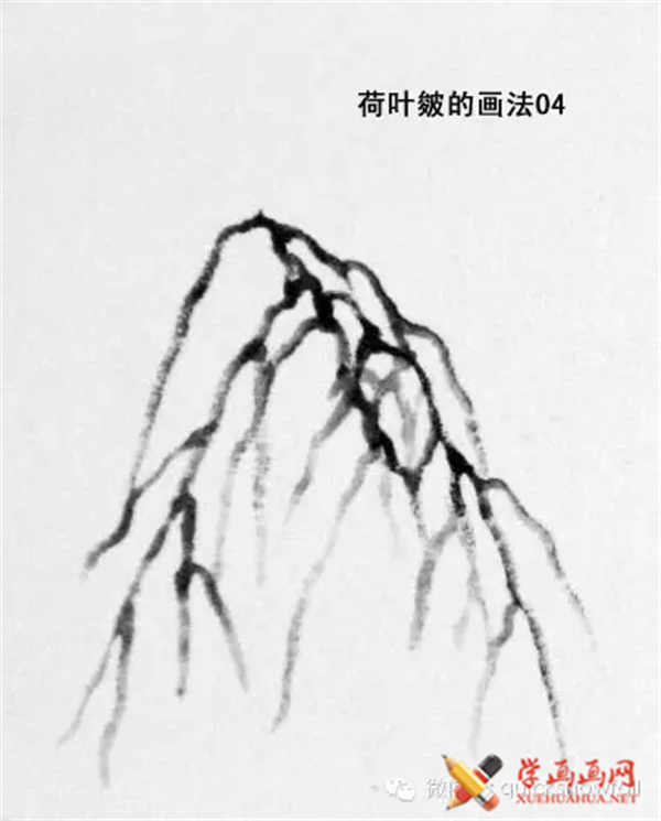 国画山石的画法(28)