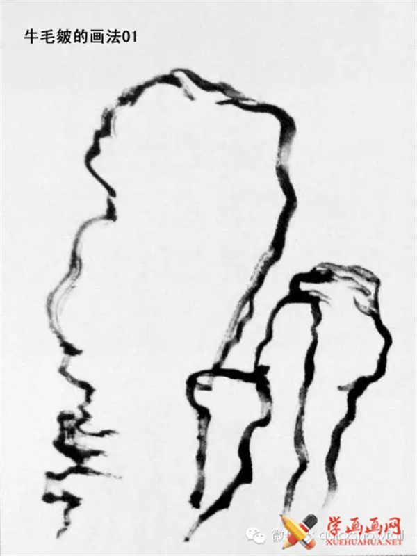 国画山石的画法(35)